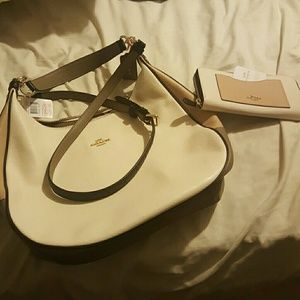 New Coach purse and wallet with tags
